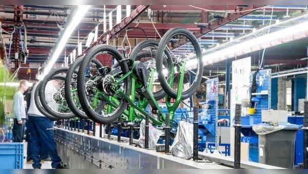 Die Fahrradproduktion hat in Sangerhausen eine lage Tradition.