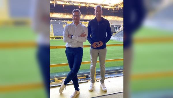 Marcus Diekmann (links) und BVB-Geschäftsführer Carsten Cramer