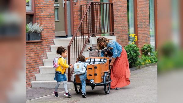 Ein Lastenrad der Firma Babboe