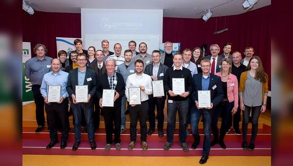 Die Gewinnerkommunen beim Wettbewerb Stadtradeln 2016