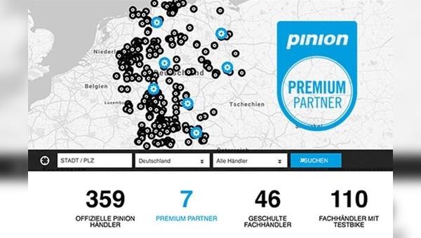 Sieben Fachhändler sind zum Start Pinion-Premium-Partner