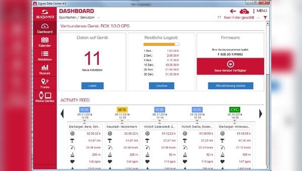 Neue Firmware für den ROX 10.0 GPS