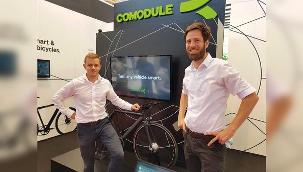 Erfolgreich unterwegs: Mitgründer und Sales Manager Teet Praks und Sven Bernhardt (Business Development) auf der Eurobike 2017.