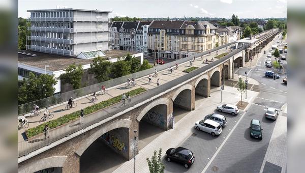 Im Radschnellweg Ruhr R1 steckt Potenzial: Die Strecke von Hamm nach Duisburg hat eine Länge von 101 km. Im Einzugsbereich von 2 km leben 1,65 Mio. Menschen, befinden sich 430.000 Arbeitsplätze und vier Universitäten mit rund 150.000 Studierenden.
