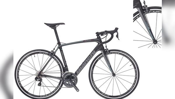 Die Carbongabel macht Bianchi bei einigen Modellen zu schaffen.