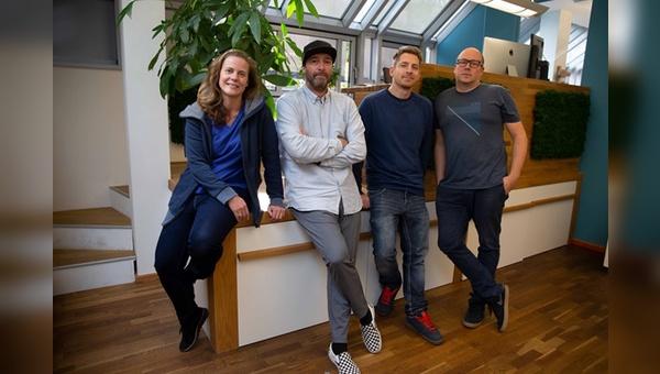 v.l.: .: Danielle Reiff-Jongerius (Gruender), Tom Copsey, Lars Wich (Freelancer), Philipp Reiff