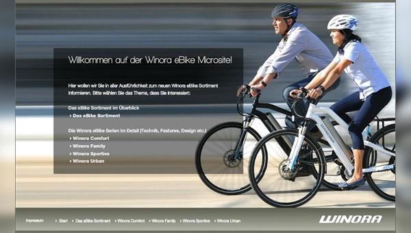 Neue Microsite für das E-Bike-Sortiment