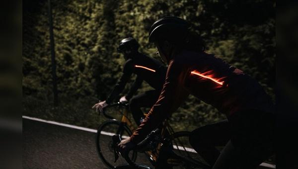 Mehr Sichtbarkeit beim Radfahren.
