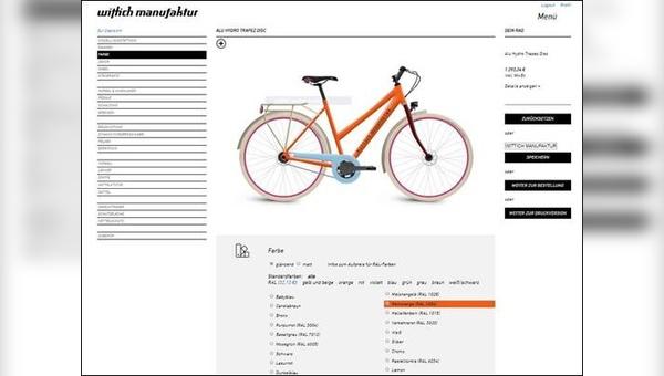 Der neue Online-Konfigurator läuft.