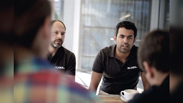 Vertriebsleiter Thomas Hummel (links) und der kaufmännische Leiter Viasta Vardjavand geben Einblicke in das Geschäftsmodell von Bloks.