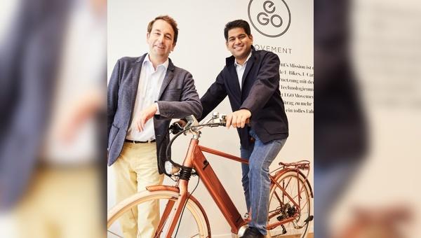 Sudarshan Venu (Joint Managing Director der TVS Motor Company), Daniel Meyer (Mitbegründer und CEO von EGO Movement)