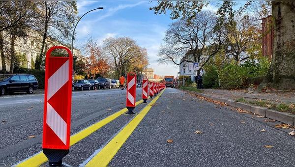 Mit Pop-Up-Radwegen will der ADFC Wege zu einer besseren Radinfrastruktur weisen.