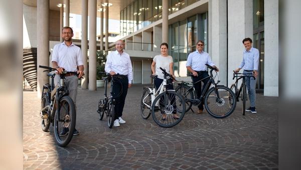 Das JobRad-Geschäftsführungsteam (v.l.n.r.): Ulrich Prediger, Matthias Wegner, Andrea Kurz, Roland Potthast und Holger Tumat.