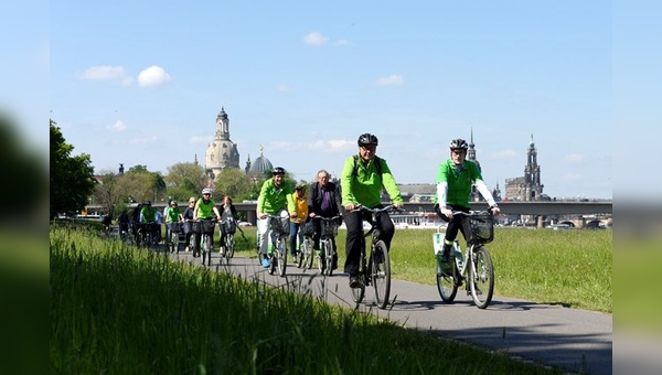 """Start frei zu """"Mit dem Rad zur Arbeit"""" hieß es in Dresden."""