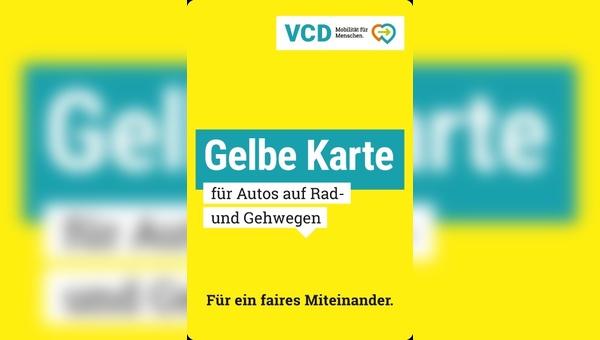 """Radfahrer und Fußgänger zeigen Falschparker die """"Gelbe Karte"""""""