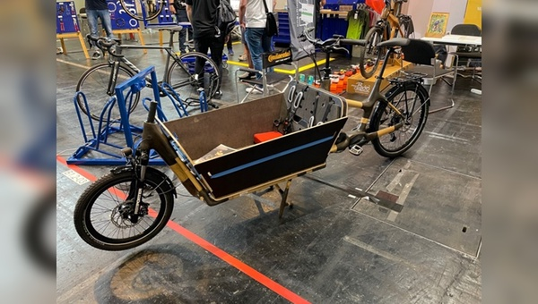 Cargobike aus Bambus - Premiere in Frankfurt