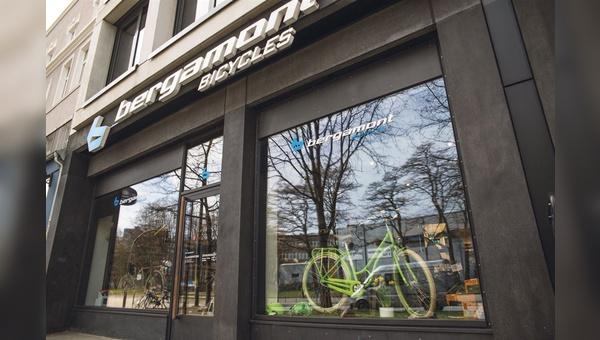 Bergamont-Räder finden sich nicht nur im Flagship-Store, sondern natürlich auch in der darüber gelegenen Unternehmenszentrale.