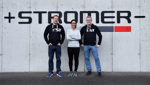 v.l. Rolf Fankowski, Fabienne Gilliéron und Christian Rapp - Foto: myStromer AG