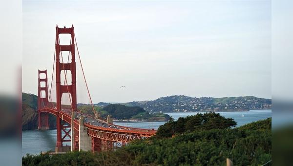 Die Golden Gate Bridge: weltbekanntes Denkmal – und für Abertausende Fahrradpendler täglicher Streckenabschnitt auf dem Weg ins Büro.