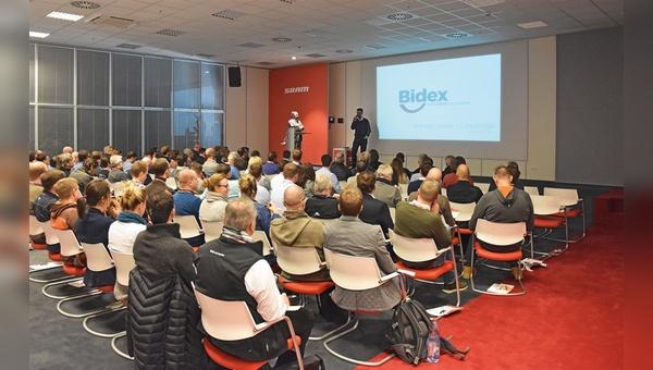 Andreas Lübeck und Lars Röttger (oben) von der Bidex GmbH stellten die Pläne des neuen Branchen-Dienstleisters vor.