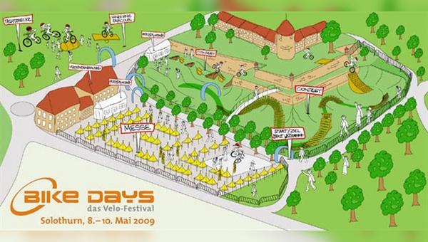 Bike-Days-Gelände als Skizze