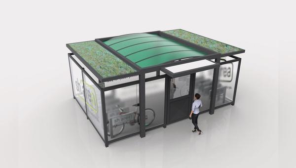 Beim Sharea-Angebot der ZEG-Tochter Eurorad (links im Bild) können Kundinnen und Kunden E-Fahrzeuge für spezifische Zeiträume aus extra gefertigten Garagen mit einem digitalen Verleihsystem mieten.