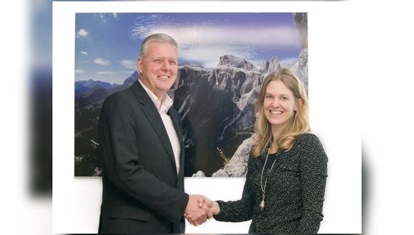 Antje von Dewitz (Geschäftsführerin Vaude) und Michael Kamm (Geschäftsführer Sympatex)