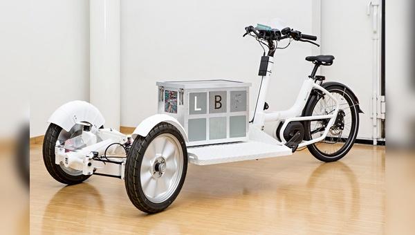 Leichtbau-Fahrrad - entstanden am Fraunhofer-Institut für Betriebsfestigkeit und Systemzuverlässigkeit.