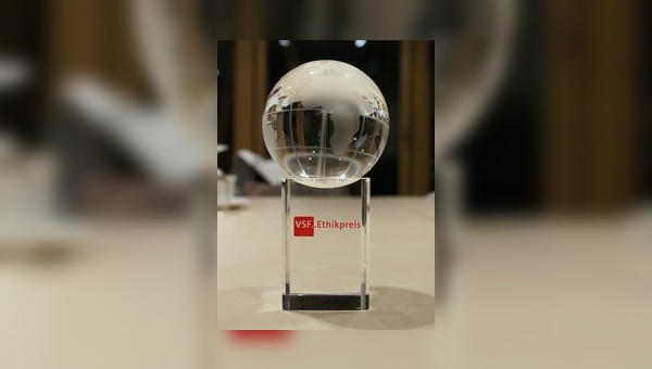 Der VSF-Ethikpreis wird in Berlin verliehen.