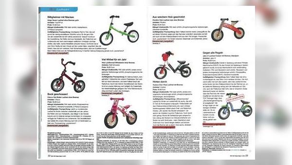 Von zehn getesteten Laufrädern wollte Ökotest nur für drei ein Gut oder Befriedigend vergeben.