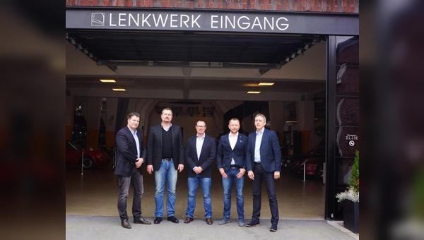 Von links: Axel Böse(S`COOL), Tobias Gudereit, Thomas Heemann (GUDEREIT), Matthias Wittich (Wittich Manufaktur), Markus Krause