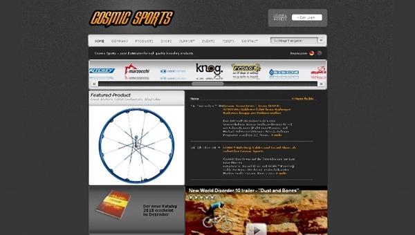 Neue Website von Cosmic Sports