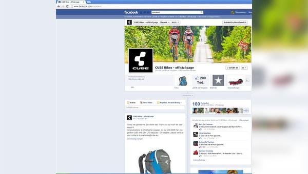 Cube überschreitet die Marke von 200.000 Fans auf Facebook