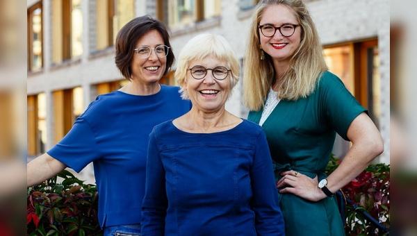 Die drei künftigen Frontfrauen der Velokonzept GmbH: v.l.: Hille Bekic, Ulrike Saade und Isabell Eberlein