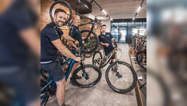 Ladenbautechnisch konnten die Gründer von SkiXbike aus dem Vollen schöpfen.
