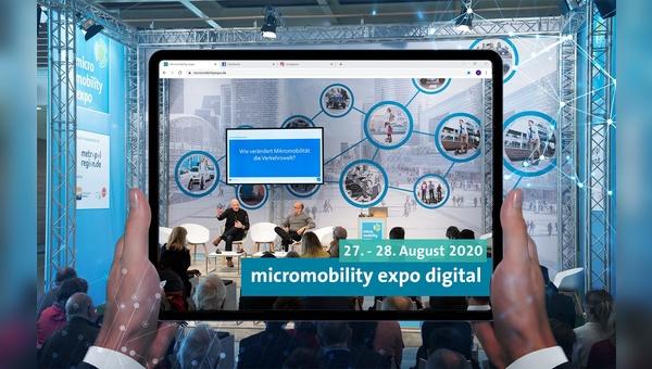 Die micromobility expo findet dieses Jahr digital statt.