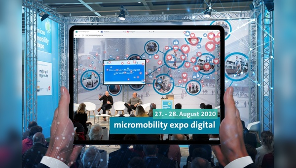 Die Micromobility Expo geht 2020 in digitaler Forma an den Start.