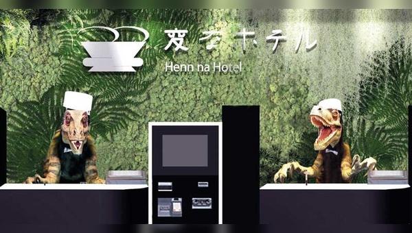 Japan: Im Henn-na Hotel wird der Gast von Robotern begrüßt.