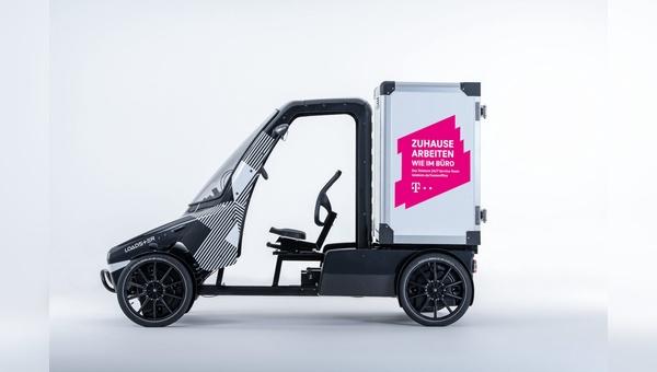 Die Telekom testet Citkar-Lastenraeder im Service-Einsatz