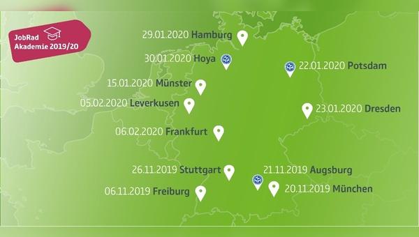 Elf Standorte in Deutschland