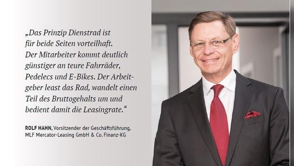 Rolf Hahn zählt die Vorteile des Dienstrad-Leasings auf.