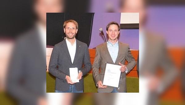 Christoph Lermen und Michael Schmitz nahmen den Preis entgegen.