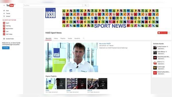Mit eigenem YouTube-Kanal am Start: der VSSÖ