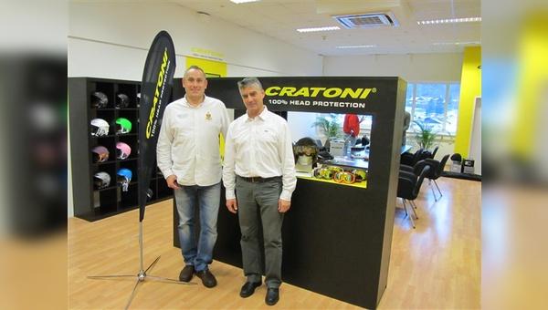 Cratoni-Vertrieb in AT: links Harald Schönhuber, rechts Christian Holzknecht