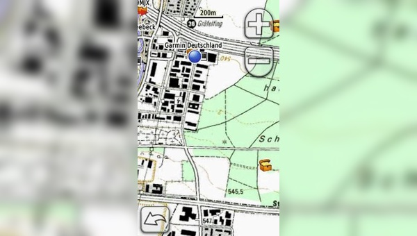 Topografische Karte auf Garmin-Gerät