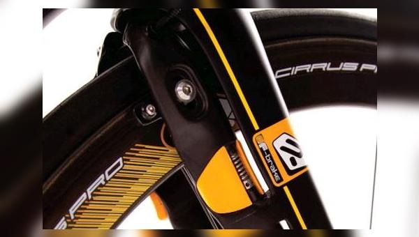 F-Brake: Die Bremse ist vollständig im Rahmen integriert