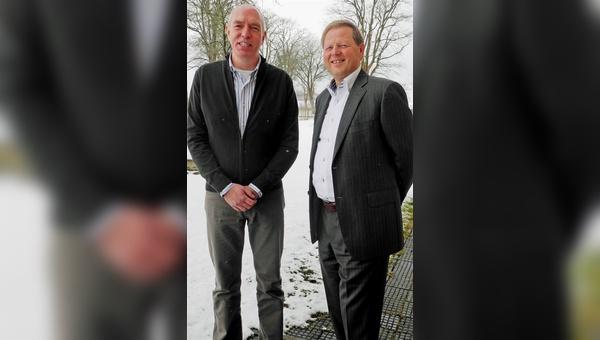 Robèrt Scholten (links) übernimmt die Leitung der Aktivitäten in Deutschland von Ad Roest.
