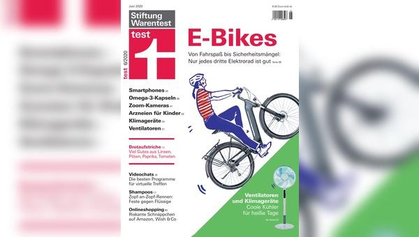 """E-Bikes sind das Titelthema der Juni-Ausgabe von """"test"""""""