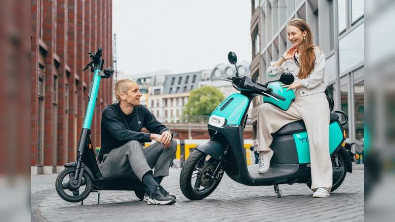 Neben den E-Tretrollern verleiht Tier Mobility künftig auch E-Mopeds