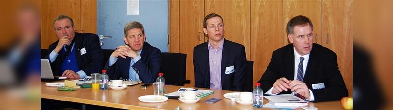 Moreno Fioravanti (Accell), Raymon Gense (PON), Arne Melse (DHL Express), Kevin Mayne (ECF)